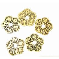 Combo 5 đồng Đồng xu hoa mai may mắn tài lộc bằng đồng thumbnail