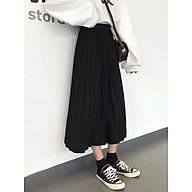 Chân váy thun xếp ly, dài qua đầu gối. Freesize thumbnail