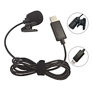 USB Lavalier Lapel Condenser Microphone Omnidirectional Wired Clip-on Mic Hands Free Plug & Play for Computer PC Laptop thumbnail