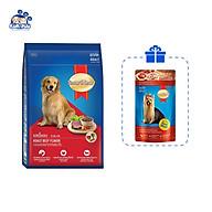 Thức ăn cho chó trưởng thành SmartHeart vị thịt bò 1.5kg- Tặng kèm 1 gói pate SmartHeart 130g thumbnail