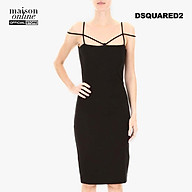 DSQUARED2 - Đầm mini nữ hai dây Black Jersey S75CU0836-900 thumbnail