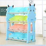 Kệ Đựng Đồ Chơi 4 Tầng 8 Ngăn Cho Bé hình Bò sữa đáng yêu thumbnail