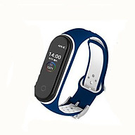 Double Color Round Holes Watch Band with Buckle Wrist Strap Replacement WristBand for XIAOMI MI Band 4 thumbnail
