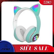Tai Nghe Mèo Chụp Tai SINO HP000028 Headphone - Kết Nối Bluetooth Dễ Thương - Âm Bass Mạnh Mẽ - Hàng Chính Hãng thumbnail