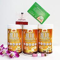 Combo 3 hộp Keto Collagen 500g [Chính Hãng] - Bữa ăn Keto hỗ trợ GIẢM CÂN SIÊU TIỆN LỢI cho người thực hành Keto và người muốn giảm cân - Giảm 3-7Kg 1 tháng [Tặng 1 Hộp Chất xơ hòa tan Hera Happy chống táo bón, 1 hộp Mặt nạ Saffron sữa ong chúa và 1 Thước dây] thumbnail