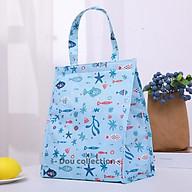 Túi Giữ Nhiệt Đựng Cơm Trưa Chống Thấm Cao Cấp Dáng Đứng Vải Oxford 600D 25x19x29cm Lunch Bag - Mã TG011 thumbnail