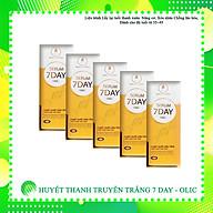 [CAM KẾT CHÍNH HÃNG] COMBO 5 lọ Serum 7 DAY OLIC (HUYẾT THANH TRUYỀN TRẮNG 7 DAY) giúp TRẮNG DA, NÂNG CƠ, TRẺ HÓA DA, trẻ hóa da từ 5 10 tuổi. (Tặng thêm 1 lọ serum và 1 sữa rữa mặt sữa chua cao cấp giúp sạch da, sáng da) thumbnail