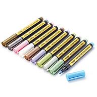 10 Colors Metallic Brush Pen Art Marker for Black Paper Rock Painting Card Making Scrapbooking Calligraphy Lettering thumbnail