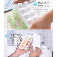 Bộ 2 khay làm đá Yukipon tròn 10 viên, làm từ nhựa PP cao cấp an toàn - made in Japan thumbnail