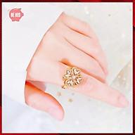 Nhẫn nữ nạm đá zircon cỏ 4 lá may mắn xoay được - Trang sức Bé Heo BHN121 thumbnail