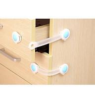 Bộ 2 Khóa Nhựa Dẻo Siêu Bền Khóa Tủ Lạnh, Khóa Ngăn Kéo An Toàn Cho Bé SOLANO HKTL thumbnail