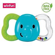 Đồ chơi cầm tay xúc xắc hình voi kiêm gặm nướu mềm WINFUN 0165-NI - BPA free thumbnail
