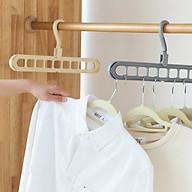 Móc treo đồ, móc treo quần áo 9 lỗ tiện dụng, đa năng giúp tiết kiệm tối đa diện tích tủ, dây phơi ( GIAO MÀU NGẪU NHIÊN) thumbnail