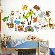 Decal dán tường cho bé về từ đồng vật bằng tiếng Anh SK9296 thumbnail