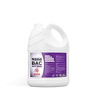 Can Nano bạc AHT diệt khuẩn 5 lít hương tinh dầu lavender - dùng rửa tay diệt khuẩn, xịt vật dụng nhà cửa - hàng chính hãng thumbnail