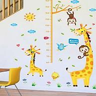 decal dán tường thước đo chiều cao hươu cao cổ xl8337 thumbnail