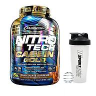 Combo Sữa tăng cơ NitroTech Casein Gold của MuscleTech hộp 71 lần dùng hỗ trợ duy trì protein cho cơ suốt 8 tiếng & Bình lắc 600ml (Mẫu ngẫu nhiên) thumbnail