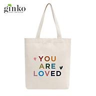 Túi Tote Vải Mộc GINKO Dây Kéo In Hình You Are Beloved M04 thumbnail