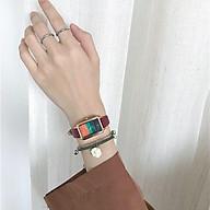 Đồng hồ nữ mặt chữ nhật dây da dễ thương thumbnail