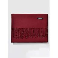 Khăn Choàng Cổ Len Dạ Màu Đỏ Đô Trơn - Cashmere - 200x60cm - Mã KC076 thumbnail