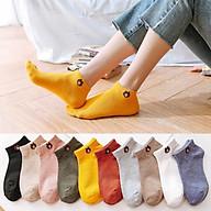 Tất nữ cổ ngắn Hàn Quốc thời trang mang giày đẹp kháng khuẩn nhiều màu thumbnail