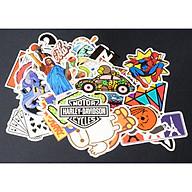 Bộ 20 50 sticker hình dán mẫu mới trang trí laptop, macbook, xe đạp, xe máy, vali du lịch thumbnail