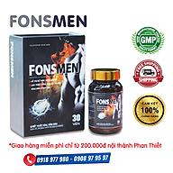 FONSMEN - Hỗ trợ bổ thận, tráng dương, giúp tăng cường sinh lực và khả năng sinh lý nam giới. Hỗ trợ giảm nguy cơ mãn dục sớm thumbnail