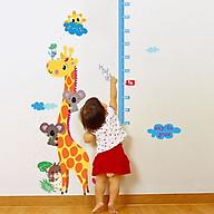 Decal dán tường Thước đo chiều cao hươu cao cổ và đàn dơi SK9002 thumbnail
