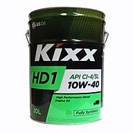 Dầu Nhớt Tổng Hợp Động Cơ Diezen Kixx HD1 10W40 Thùng Thiếc 20 Lít thumbnail