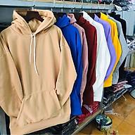 Áo hoodie trơn nỉ bông Hàn Quốc thumbnail