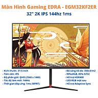 Màn Hình Gaming E-DRA EGMKF2ER 32 inch 2K 144hz - Hàng Chính Hãng thumbnail