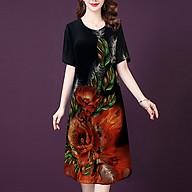 Đầm Suông Cho Người Mập Từ 48-73Kg Kiểu Đầm Suông Voan Trung Niên Big SIze - THỜI TRANG TRUNG NIÊN NỮ GOTI 3314 thumbnail