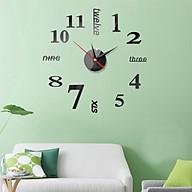 Đồng hồ treo tường 3D tự lắp ráp phong cách Châu Âu hiện đại đang HOT DH04 Đồng hồ số thumbnail