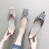 Giày Búp Bê Nữ Mũi Nhọn Nơ Đính Đá Sang Chảnh Mẫu Mới Năm 2021 Phiên Bản Hàn Quốc MBS314 - Mery Shoes thumbnail