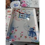 Khay melamine hoạ tiết hoa cao cấp(hình ngẫu nhiên) size to thumbnail