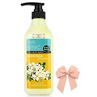 Sữa tắm sạch nhờn hương thơm mát chiets xuất hoa chùm ngây DABO hàn quốc ( 750ml) và kẹp nơ thumbnail