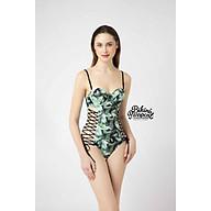 BIKINI PASSPORT - Đồ bơi áo tắm Một mảnh chạy dây 2 bên - Xanh lá cây BS084_GN thumbnail