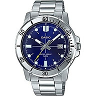Casio MTP-VD01D-2EV Men s Enticer Stainless Steel Blue Dial Casual Analog Sporty Watch thumbnail