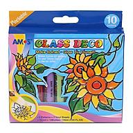 Bộ Bút Vẽ Trang Trí Amos Glass Deco GD10P10 thumbnail