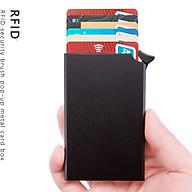 Bóp đựng thẻ tín dụng, ví thẻ tín dụng có lẫy tự động tích hợp công nghệ chống trộm thông minh RFID VTDLC09 thumbnail