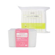 Combo 1 hộp 1000 miếng và 1 túi 180 miếng Miniso Bông tẩy trang 100% Cotton Nhật thumbnail