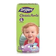 Tã quần Drypers Classicpantz L 32 miếng (9 - 14kg) thumbnail