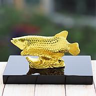 Tượng cá rồng phong thủy mạ vàng thumbnail