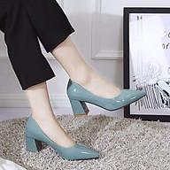 giày cao gót mũi nhọn kiểu búp bê công sở thumbnail