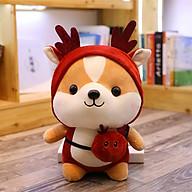 Gấu bông gối ôm chú chó Shiba Cosplay đáng yêu nghộ nghĩnh-Đỏ thumbnail