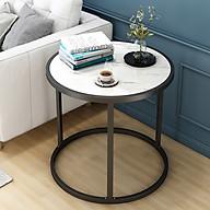 Bàn trà, Bàn cafe, bàn trang trí vân đá mẫu tròn thumbnail
