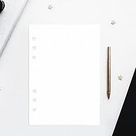 Giấy Ruột refill sổ còng 6 lỗ A5 cơ bản chấm bi, kẻ dòng, caro, trắng trơn 60 tờ, định lượng 100gsm của Self Planner thumbnail