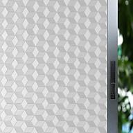 Decal dán kính mờ hình lập phương 3d - decal dán kính phòng khách - phòng ngủ - khách sạn - nhà hàng DK59 thumbnail