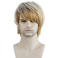 WIG-M27 High-temperature Synthetic Fiber Wigs Heat Resistant Long Hairpiece Hair Wig for Men Straight Hair Full Wigs thumbnail