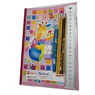 Combo đồ dùng HS 11 món ( 5vở ô ly HH + bút máy nét hoa + 3 bút chì + tẩy + thước) thumbnail